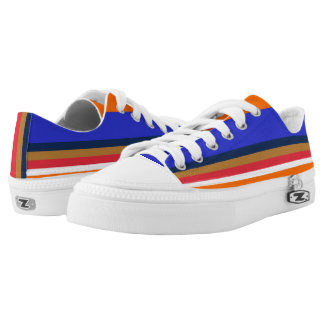 Royal Midnight Copper Red White and Orange Lo-Tops