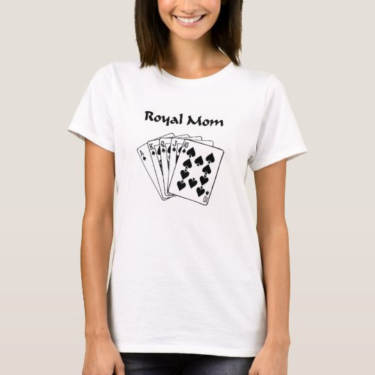Royal Mom Poker Player Baby Doll Tee