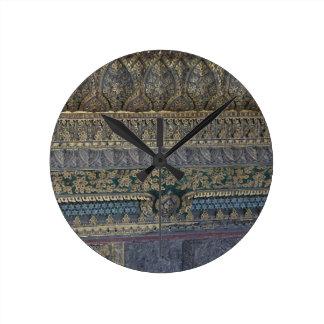 Royal Mosaic Round Clock