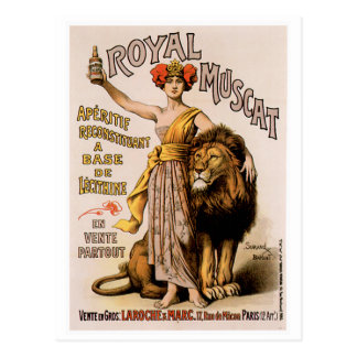 Royal Muscat Vintage Wine Drink Ad Art Postcard
