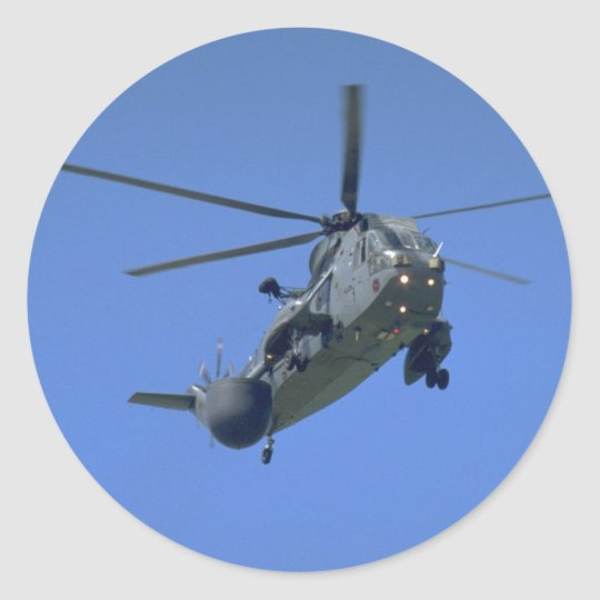 Royal Navy Sea King, AEW helicopter Classic Round Sticker