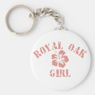 Royal Oak Pink Girl Keychain