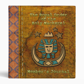 Royal Order of the Holy Mackerel Member's Journal Vinyl Binder