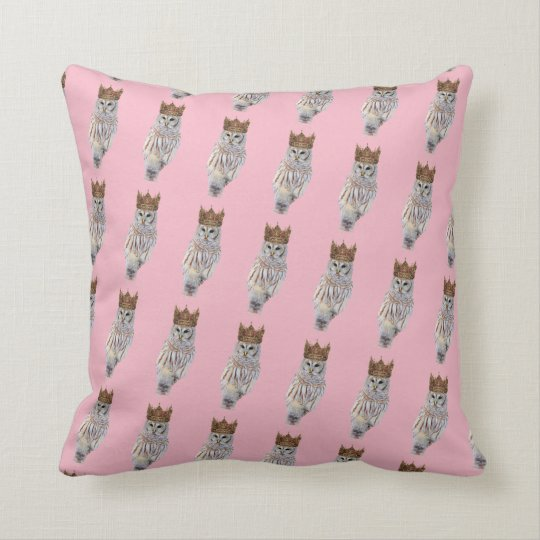 Royal Owl #1 Throw Pillow