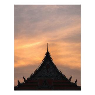 Royal, Palace architecture, Cambodia Customized Letterhead