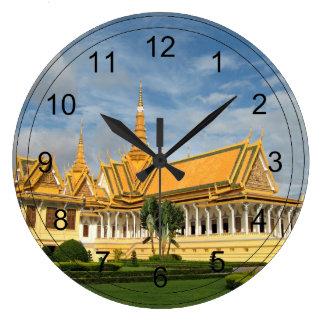 Royal Palace, Phnom Penh, Cambodia - VIRGINIA5050 Large Clock