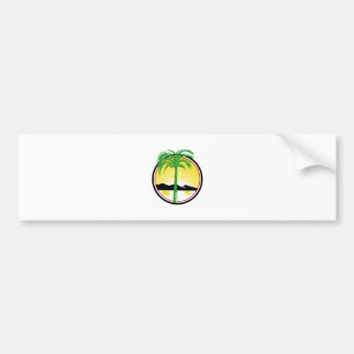 Royal Palm Beach Sea Mountain Retro Bumper Sticker