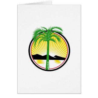 Royal Palm Beach Sea Mountain Retro Card