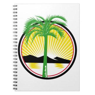 Royal Palm Beach Sea Mountain Retro Notebook