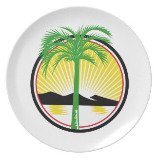 Royal Palm Beach Sea Mountain Retro Plate