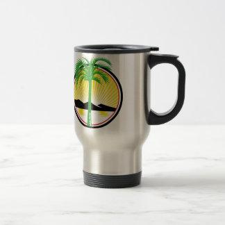 Royal Palm Beach Sea Mountain Retro Travel Mug