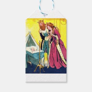 royal parents and royal baby print gift tags