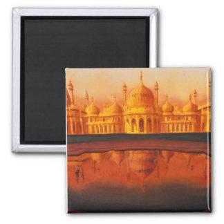 """""""Royal Pavillion"""" Taj Mahal art Square Magnet"""