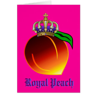 Royal Peach Drink Recipe Greeting Card