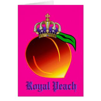Royal Peach Drink Recipe Greeting Card