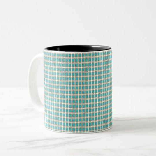Royal-Peacock Fabric's(c)AG_Multi Styles & Colours Two-Tone Coffee Mug