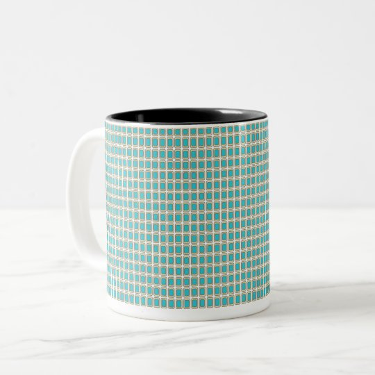 Royal-Peacock Fabric's(c)II-Styles & Colours Two-Tone Coffee Mug