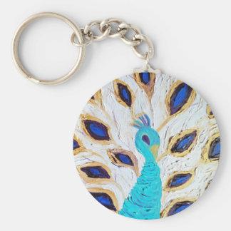 Royal Peacock (Kimberly Turnbull Art) Keychain