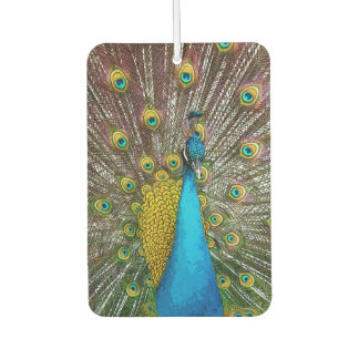 Royal Peacock with Teal Gold and Blue Plumage Air Freshener