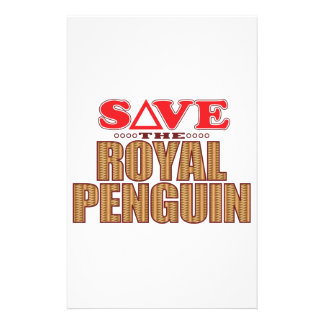 Royal Penguin Save Personalized Stationery