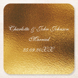 Royal Personalized Shiny Gold Save The  Coasters