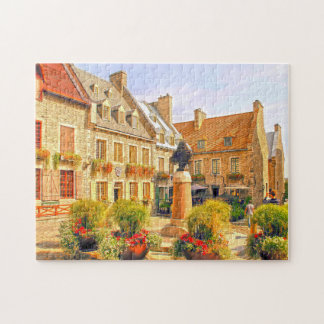 Royal Plaza Old Town Quebec. Jigsaw Puzzle