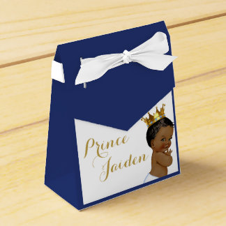 Royal Prince (African American) Favour tent boxes Wedding Favor Box