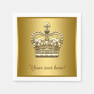 Royal Prince King Gold Crown Paper Napkin