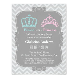 Royal Prince or Princess Gender Reveal Baby Shower Card