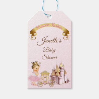 Royal Princess Castle Carriage Pink Gold Girl Gift Tags