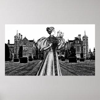 Royal Princess Castle manor Abstract art Poster