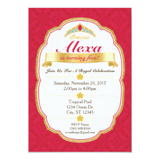 Royal Princess Celebration Party Invitation (5x7)