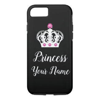 Royal Princess Monogram Crown Design iPhone 8/7 Case