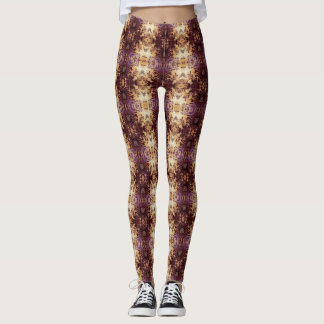 Royal Purple and Gold Leggings