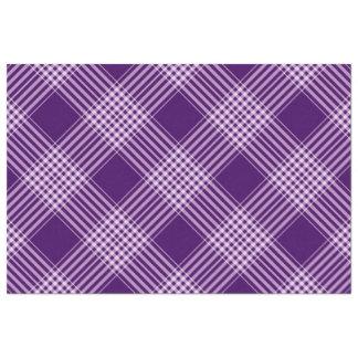 Royal Purple And White Plaid Tissue Paper