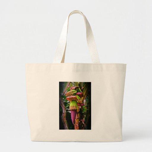 Royal Purple Banana Flower Canvas Bags
