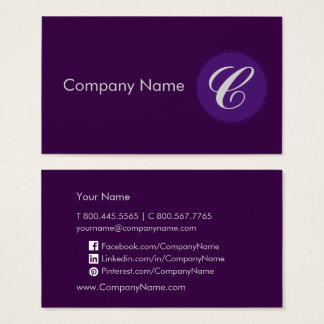Royal Purple Business Card