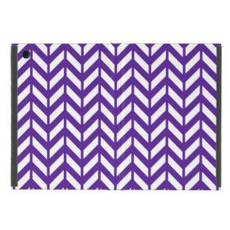 Royal Purple Chevron 4 Cover For iPad Mini