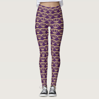 Royal Purple Crown Leggings