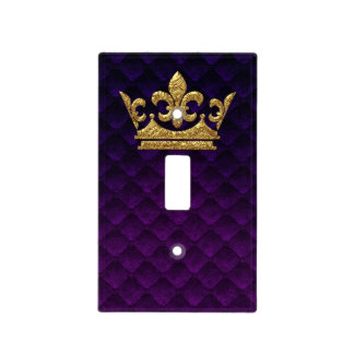 Royal Purple Gold Crown Prince Castle Kingdom Light Switch Cover