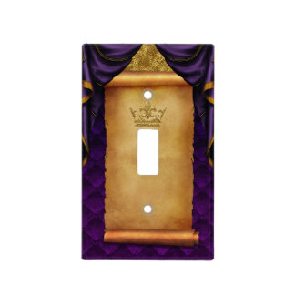 Royal Purple Gold Drapes Scroll Castle Kingdom Light Switch Cover