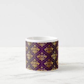 Royal Purple & Gold Expresso Mug