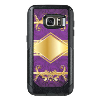 Royal Purple & Gold Pattern Print Design OtterBox Samsung Galaxy S7 Case