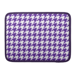Royal Purple Houndstooth 1 Sleeves For MacBook Pro