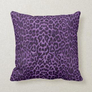Royal :Purple Leopard Throw Pillow