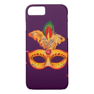 Royal purple masquerade mask mardi gras iPhone 7 case