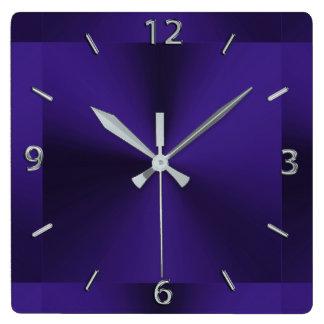 Royal Purple Modern Metallic Clock