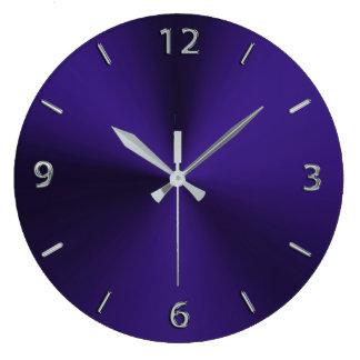 Royal Purple Modern Metallic Round Wall Clock