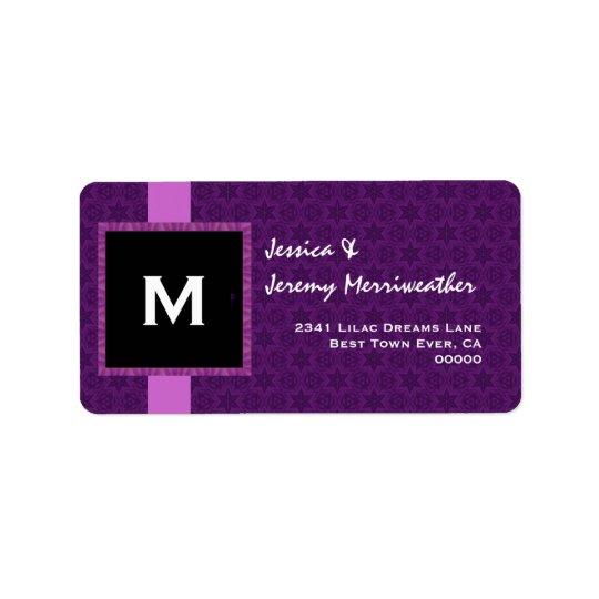 Royal Purple Monogram Square Frame and Ribbon M321