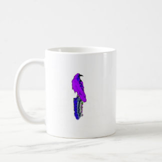 Royal Purple Raven on Post by Sharles Coffee Mug
